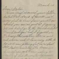 1918-03-14 Harvey Wertz to Miss Dorothy Wertz Page 1