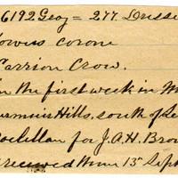 Clinton Mellen Jones, egg card # 192