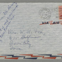 1944-01-03 Helen Fox to Bess Peebles Fox Page 4 - Envelope