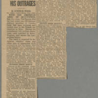 "1918-12-12 Des Moines Capital Clipping: """"Hun Governor Arrested For His Outrages"""" Page 1"