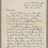 1941-12-01 Laura Davis to Lloyd Davis Page 1