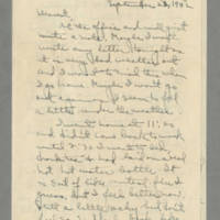 1942-09-23 Laura Davis to Lloyd Davis Page 1