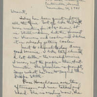1941-11-30 Laura Davis to Lloyd Davis Page 1