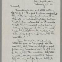 1943-02-02 Laura Davis to Lloyd Davis Page 1