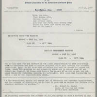 1967-07-13 Newsletter, Fort Madison Branch of the NAACP Page 1