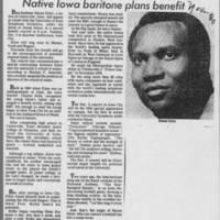 """""Native Iowa baritone plans benefit"""""