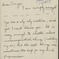 1917-12-18 Josephine to Conger Reynolds Page 1