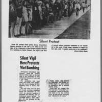"""1972-04-19 Iowa City Press-Citizen Photo: """"""""Silent Protest"""""""""""