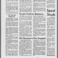 """1970-05-13 Daily Iowan Article: """"""""Faculty Senate Votes Anti-ROTC"""""""" Page 3"""