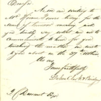 Dehon, Clark & Bridges correspondence to Thomas C. Durant regarding debt for statuary to Hiram Powers, 1866-1867