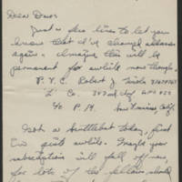 1945-08-18 Pfc. Robert J. Nicola to Dave Elder Page 1