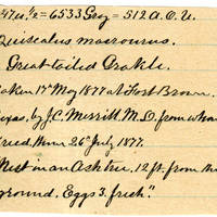 Clinton Mellen Jones, egg card # 193