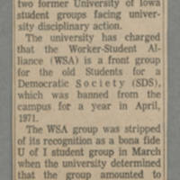 1972-04-14 Article: 'Judge Nulling Iowa City Case' Page 1