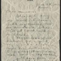 1916-06-24 Conger Reynolds tp Mrs. Emily Reynolds Page 1