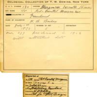 Thomas Wilmer Dewing, egg card # 090