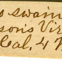 Clinton Mellen Jones, egg card # 310