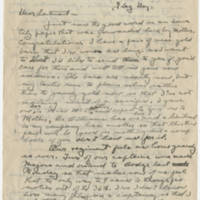 1918-06-14 Bob Browning to Karl Hoffman Page 1
