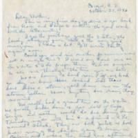 1946-10-23 Helen Fox Angell to Bessie Peebles Fox Page 1