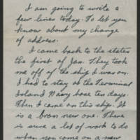David R. Elder correspondence, February-March 1945