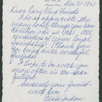 Cary Club letters, 1961-1964