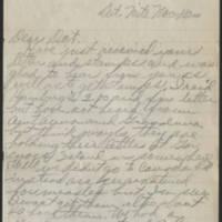 1917-11-16 Harvey Wertz to Miss Dorothy Wertz Page 1
