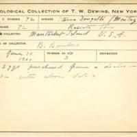 Thomas Wilmer Dewing, egg card # 635u