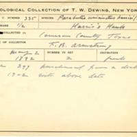 Thomas Wilmer Dewing, egg card # 218