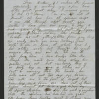 August 1852 letter Page 1