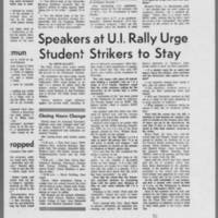 """1970-05-13 Daily Iowan Article: """"""""Faculty Senate Votes Anti-ROTC"""""""" Page 4"""