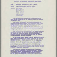 1963-09-18 Minutes of the University Committee on Human Rights Page 1