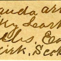 Clinton Mellen Jones, egg card # 393