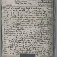 1943-07-16 Laura Davis to Lloyd Davis Page 1