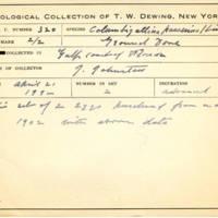 Thomas Wilmer Dewing, egg card # 209