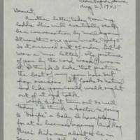 1945-08-02 Laura Davis to Lloyd Davis Page 1