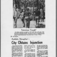 "1971-05-14 Iowa City Press-Citizen Article: """"City Obtains Injunction"""" Page 1"