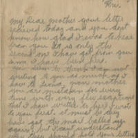 Wright Jolley letters to his mother, 1918-1919