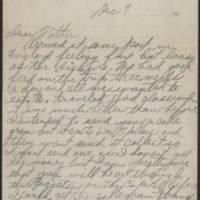 1917-12-07 Harvey Wertz to Mr. L.A. Wertz Page 1