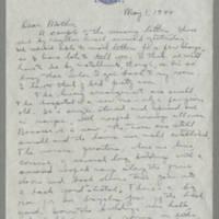 Helen Fox Angell letters to Bess Peebles Fox, May-July 1944