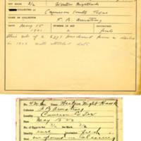 Thomas Wilmer Dewing, egg card # 318