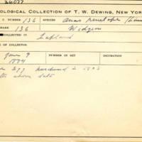 Thomas Wilmer Dewing, egg card # 097