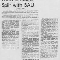 "1969-04-23 Daily Iowan Article: ""Frosh Gridders Split with BAU"""