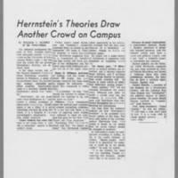1972-04-08 Press-Citizen Article: 'Herrnstein's Theories Draw Another Crowd on Campus'
