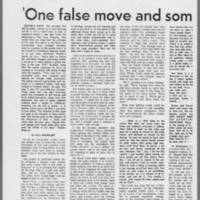 """1971-03-25 Daily Iowan Article: """"""""'One false move and somebody is dead???'"""""""" Page 1"""
