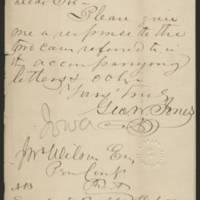 George Wallace Jones letters, 1844-1896