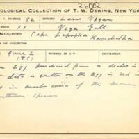 Thomas Wilmer Dewing, egg card # 040