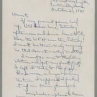 1941-10-23 Laura Davis to Lloyd Davis Page 1