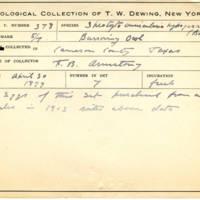 Thomas Wilmer Dewing, egg card # 261