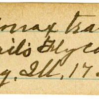 Clinton Mellen Jones, egg card # 361