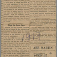 "Clipping: ""Do you know the insignia of the American divisions that fought overseas?"" Page 1"