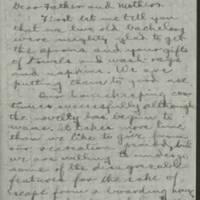 1916-10-06 Conger Reynolds to Mr. & Mrs. John Reynolds Page 1